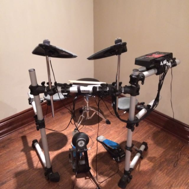 Electronic Drum Set With Stool And Sticks