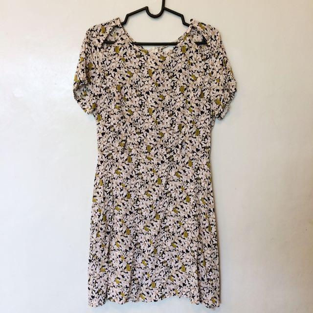 Ezra Floral Cut-out Dress