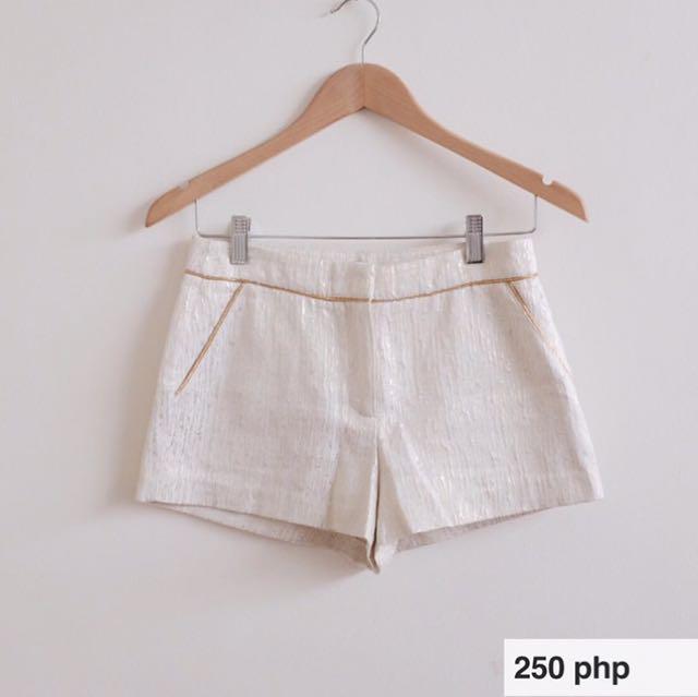 F21 Gold Glitter Shorts