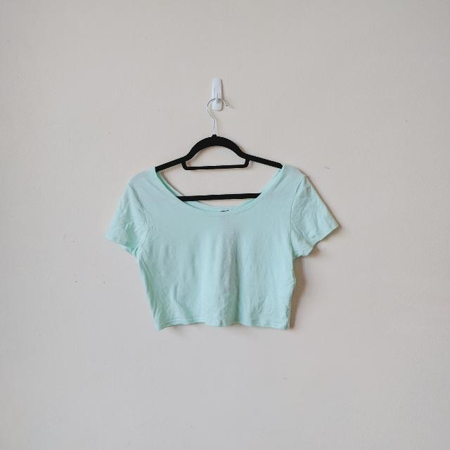 Factorie Harlow Crop Tee in Mint