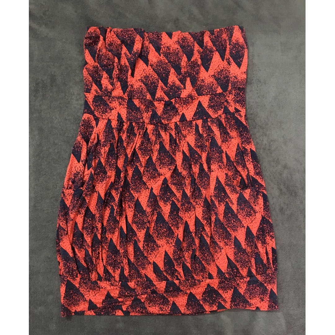 Folded & Hung patterned tube dress