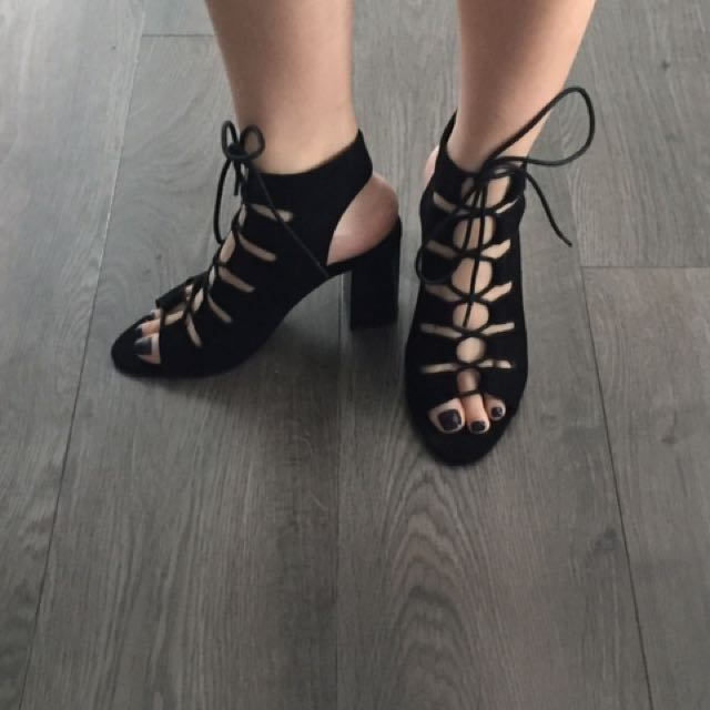 Forever 21 Lace Up Heels