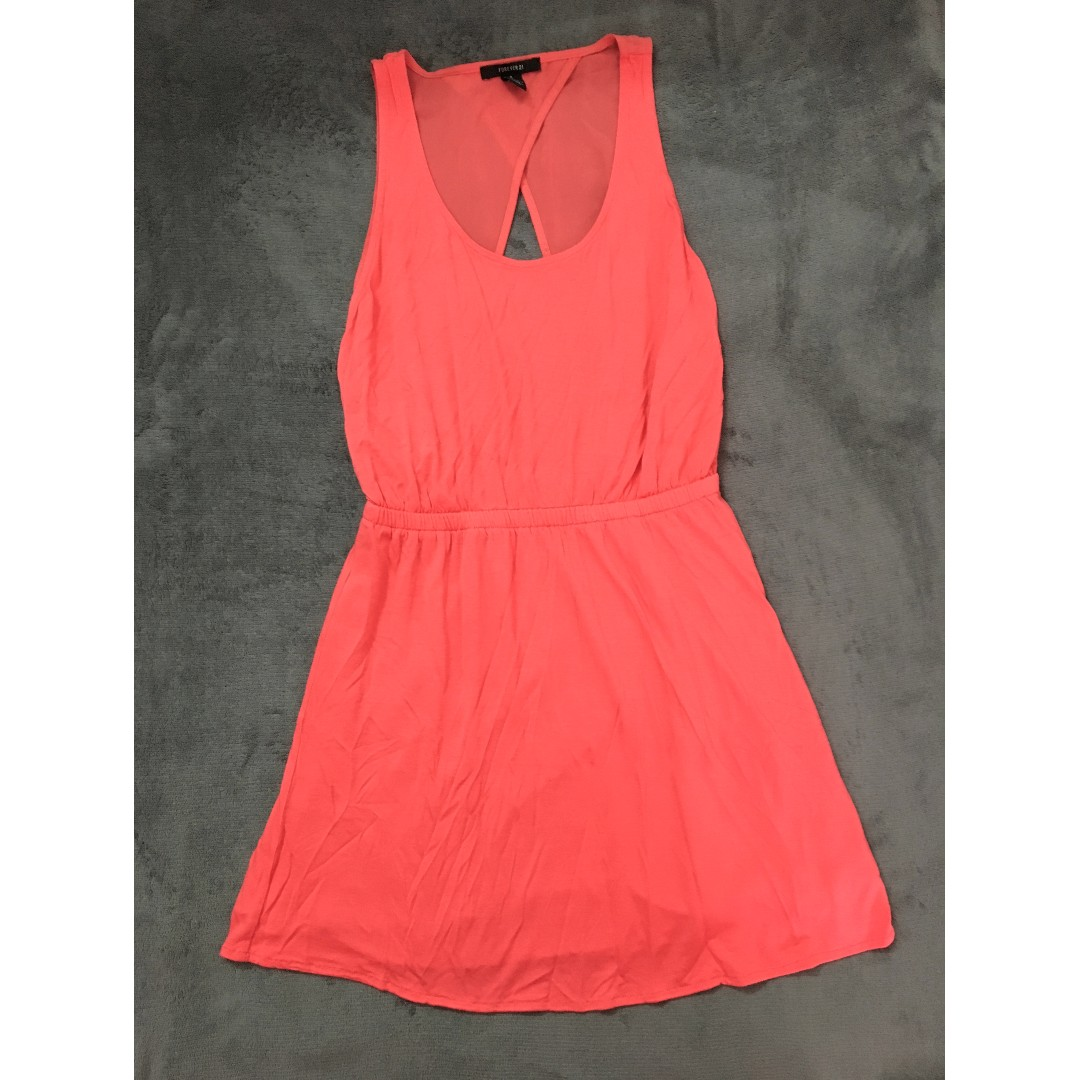 Forever 21 orange dress with open back