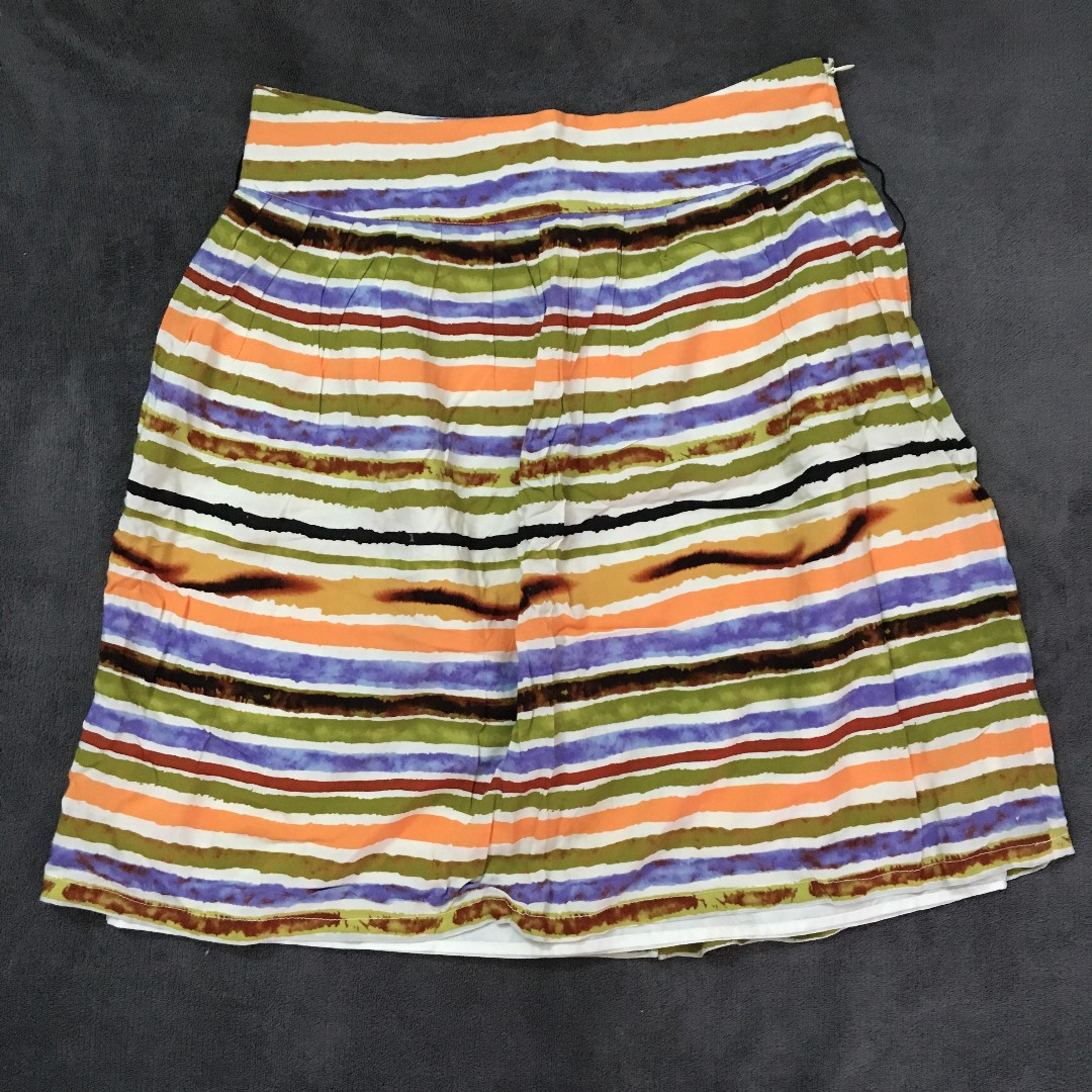 Forever 21 striped full skirt