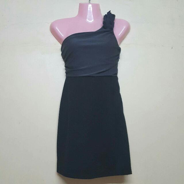 Formal Cocktail Black/Grey Dress
