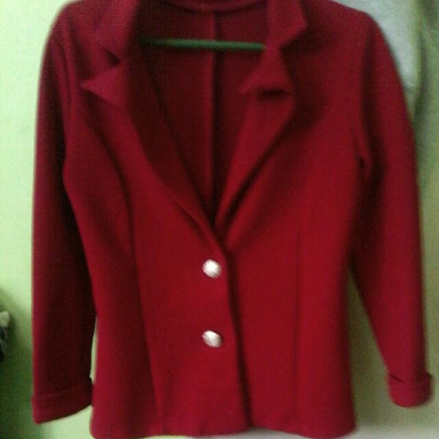 Formal Hot Red Coat