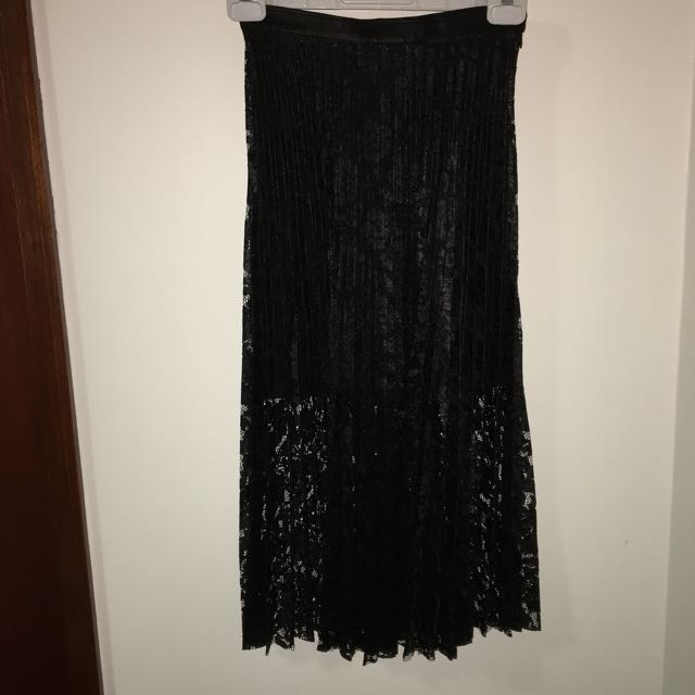 FREE PEOPLE: Black See Through Skirt Size 6