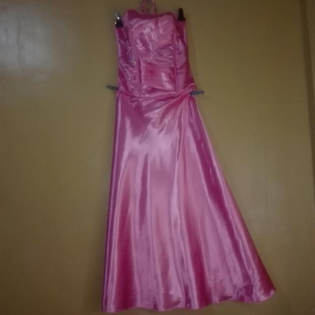 Fushia Pink bride's maid gown