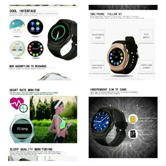 🆒🆕NO 1 G3 Bluetooth Smartwatch MTK2502 Siri Smart Watch
