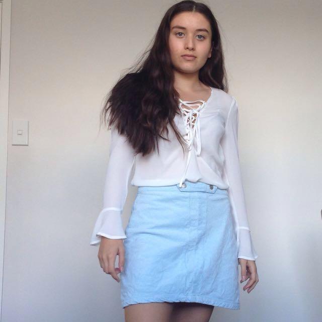 Glassons Baby Blue Skirt