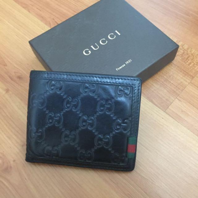 Gucci Black Wallet Emboss