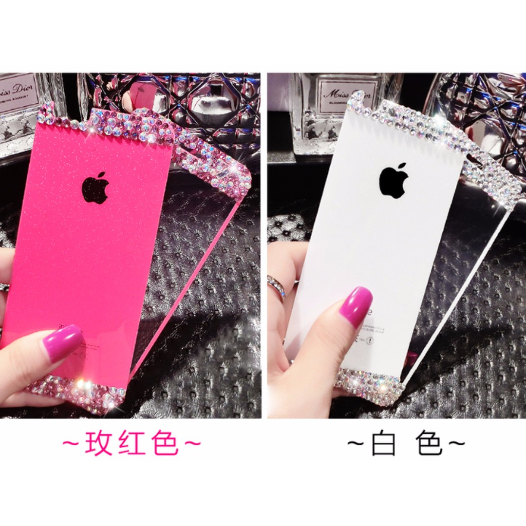 蘋果Iphone7(4.7寸)獨家超薄防爆閃粉鋼化玻璃膜 (前膜+後膜!!!)