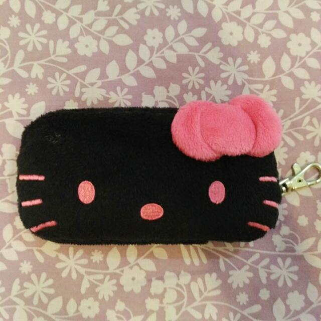 (降)三麗鷗黑臉kitty卡夾包,手機包
