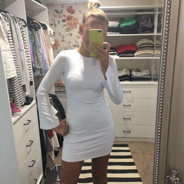 Kookai White Mini Flared Sleeves