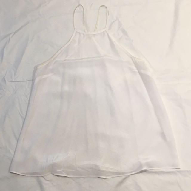 Kookai White Silk Top