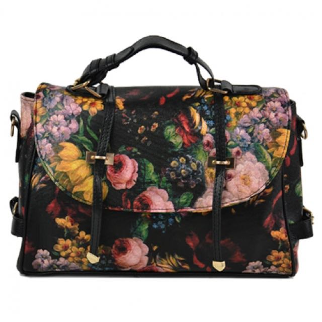Korean Floral Satchel