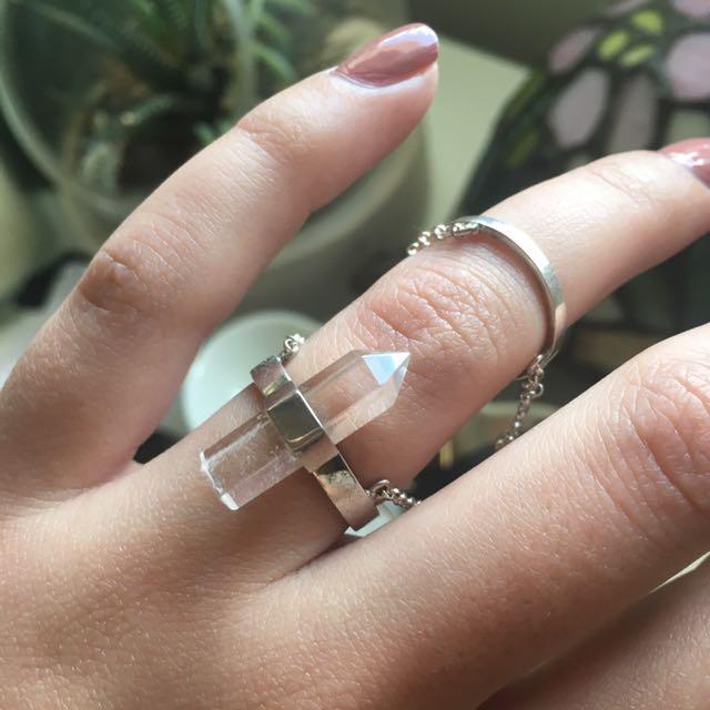 Kristal Knight Faith Double Chain Ring