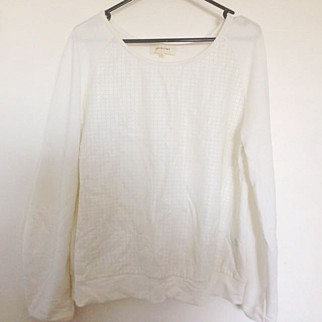 L - Simple Ivory Shirt