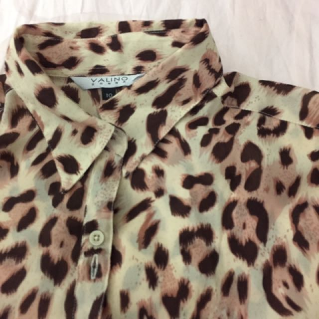 Leopard Soft Pink Top