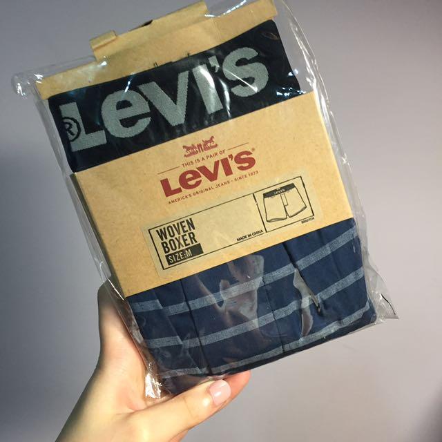 Levi's 男生平口四角內褲