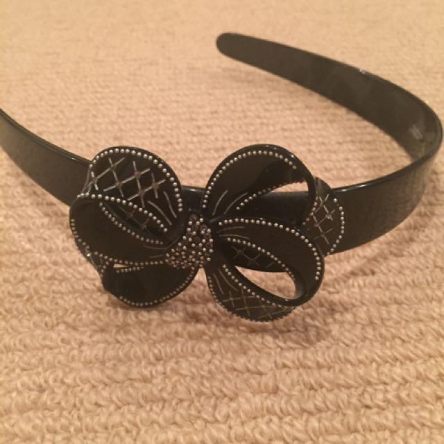 Mimco, Black Bow Statement Headband