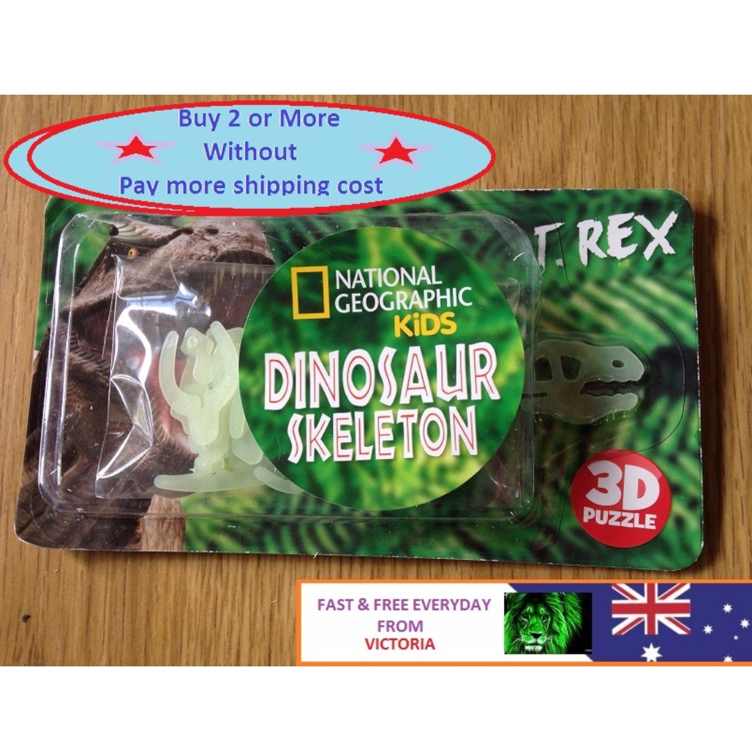 NEW 3D Dinosaur Skeleton Puzzle Pack Kids Party Favor Novelty Toys