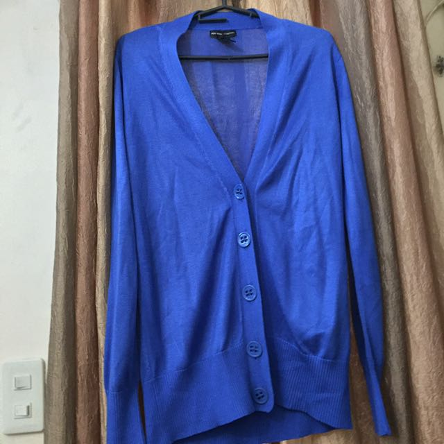 NEW YORK AND COMPANY Blue Cardigan