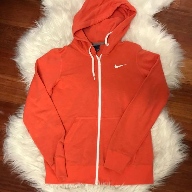 Nike Orange Hoodie Size S
