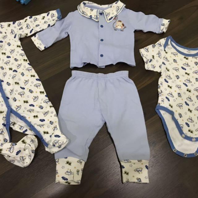 Preloved Baby Jumper And Pyjama Set