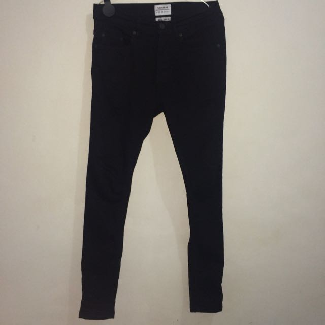 Pull&Bear Skinny Jeans Black Color