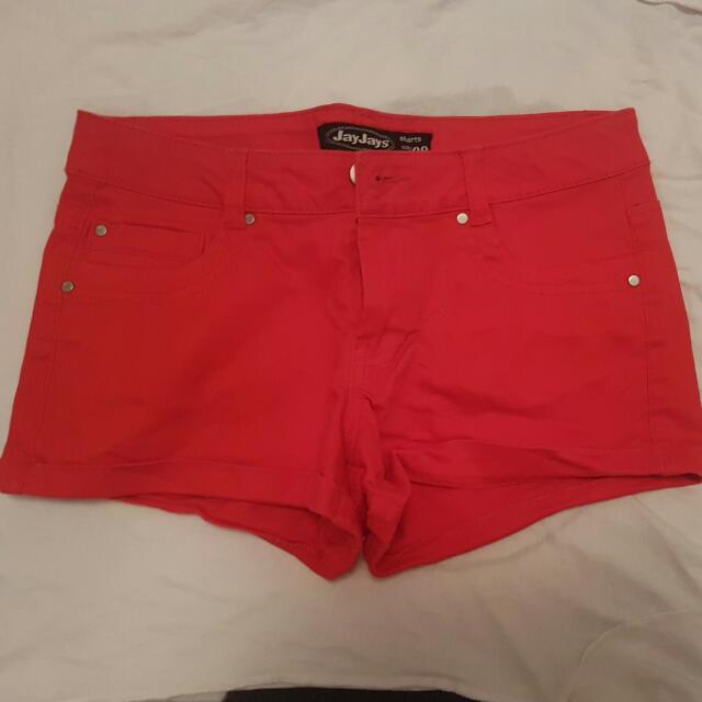 Red Mini Shorts Size 8
