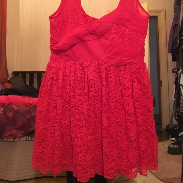 Red Party Dress Size 8