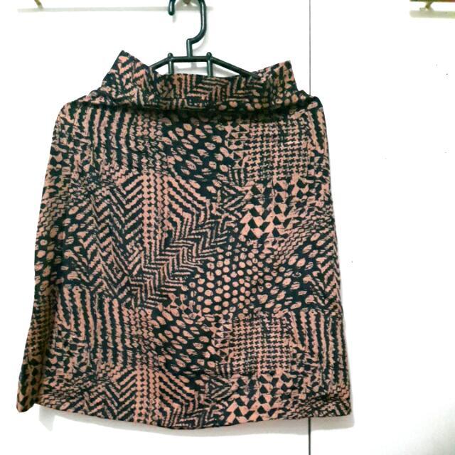 Rok Midi Silk Full Motif All Size Fit To L