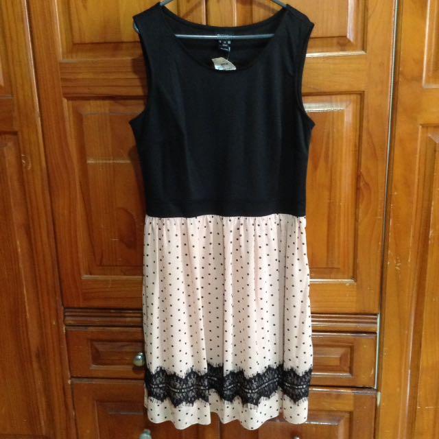 Repriced❗️Ross Black & Pink Polka Dots Dress