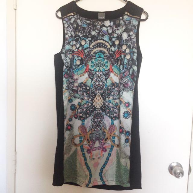 S - Pattern Print Dress