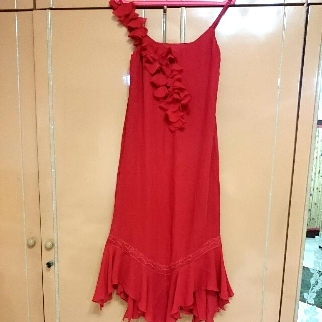 Sale10%!!!Dress Merah