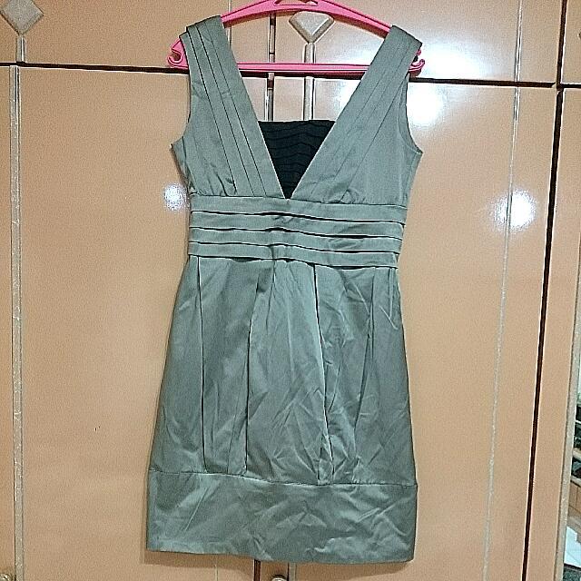 Sale 10%!!!Dress Satin Tebal