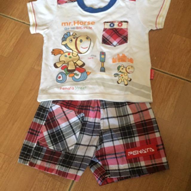set baju harian anak