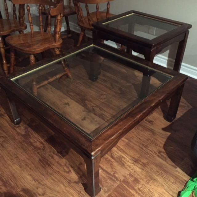 Set Of 1 Coffee Table And 2 Side Tables