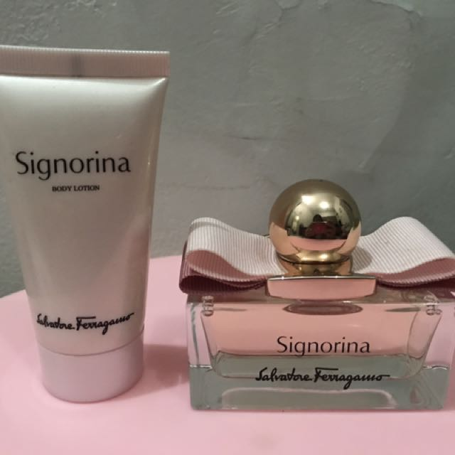 REPRICED! Signorina EDT & Body Lotion