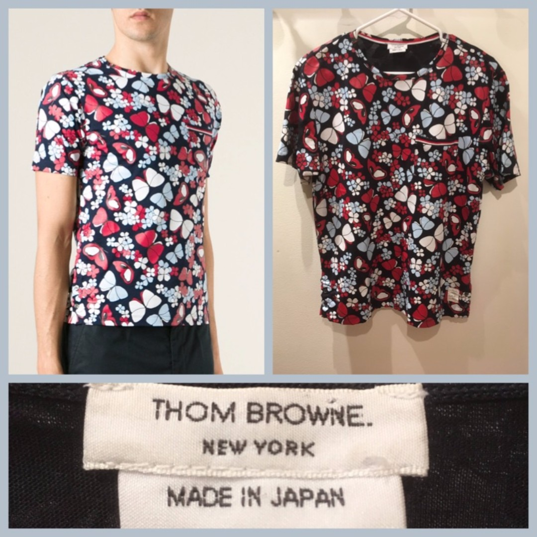 Size S - Thom Browne NY butterfly tee