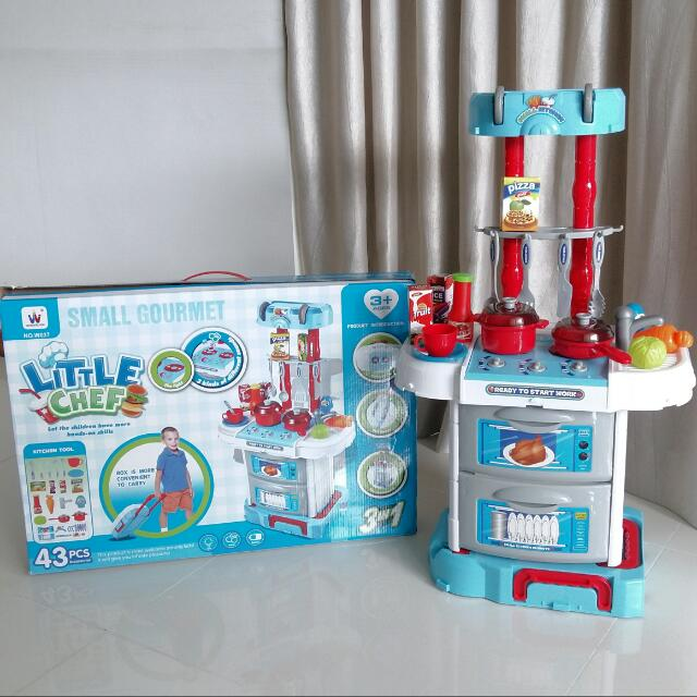 Small Gourmet Little Chef Kitchen Set Babies Kids Toys Walkers On Carousell