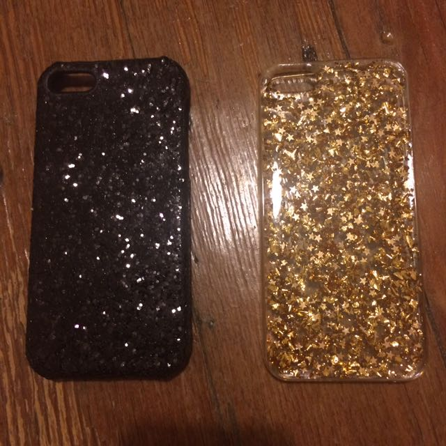 Sportsgirl Black And Gold Glitter iPhone 5 Cases