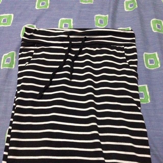 Stripes Long Skirt