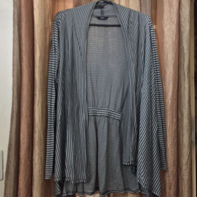 Stripped Gray Cardigan