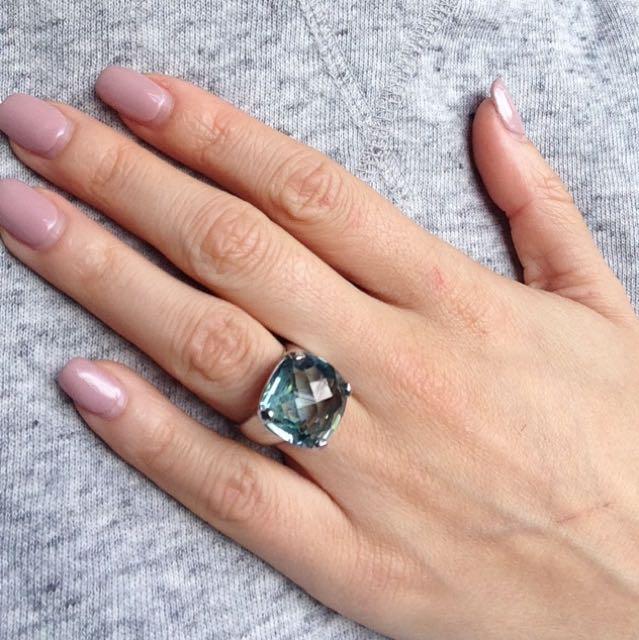 Swarovski Aquamarine Merlin Ring