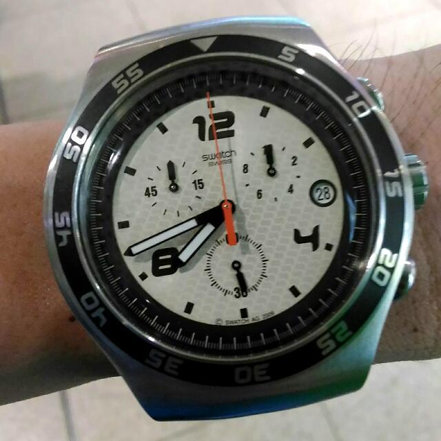 CTN: SWATCH Irony Chrono Watch (YOS438, with Date Feature)