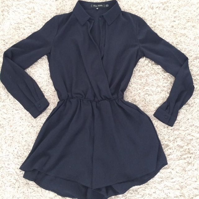 The Fifth Midnight Blue Romper