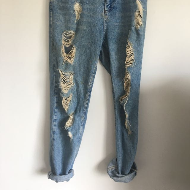 Top Shop Denim Boyfriend Jeans