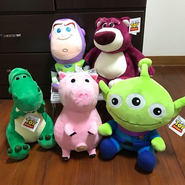 玩具總動員娃娃Toystory 三眼怪火腿豬火腿博士抱抱龍爆爆龍巴斯光年草莓熊抱哥粉紅熊抱哥